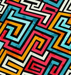 Graffiti lines seamless pattern vector