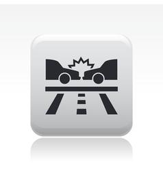 Road crash icon vector