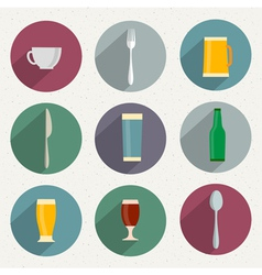 Flat icons of web and mobile applications utensil vector