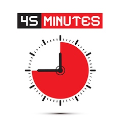 Forty five minutes stop watch - clock vector