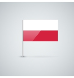 Flag of poland vector