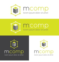 Modern logo for web studio or finance company vector