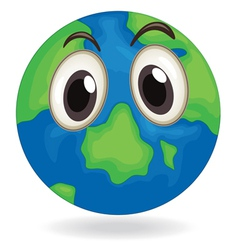 Earth globe face vector