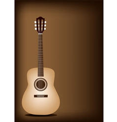 Classical guitar on dark brown background vector