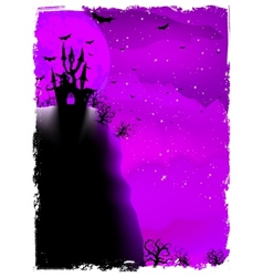 Halloween composition with horror house eps 10 vector