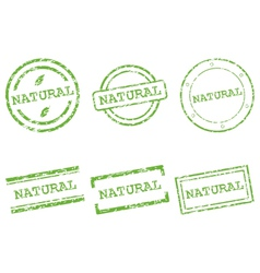 Natural stamps vector