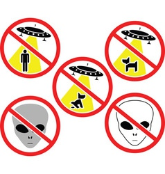 Ufo warning signs vector