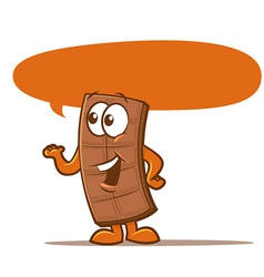 Chocolate bar cartoon vector