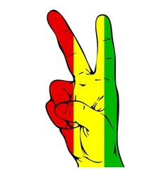 Peace sign of the guinea flag vector