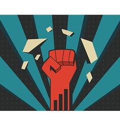 Power fist vector