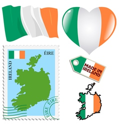 National colours of ireland vector