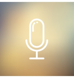 Retro microphone thin line icon vector