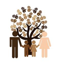 Multiethnic diversity vector