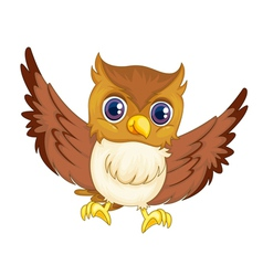 Comical owl vector