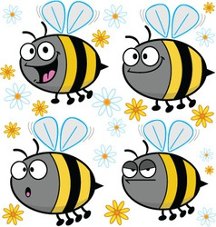 Cartoon bees - assorted vector