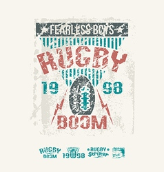 College team rugby retro emblem vector