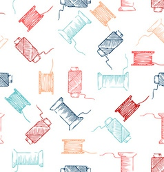 Seamless pattern of threads vector