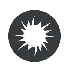 Monochrome round starburst icon vector