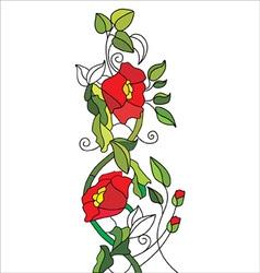 Poppy pattern vector