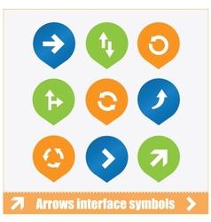 Arrows interface symbols set vector