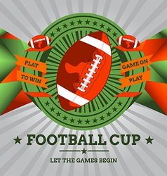 Football emblem with geometric background vector