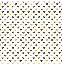 Hearts pattern gold seamless vector