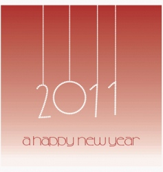 2011 a happy new year vector