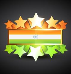 Indian flag label vector