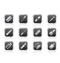 Make-up icon set vector