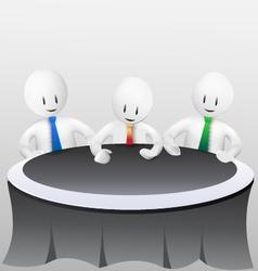 3d business men-meeting vector