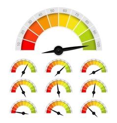 Percentage gauge vector