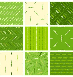 Set of seamless nature patterns vector