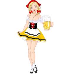 Oktoberfest german girl vector