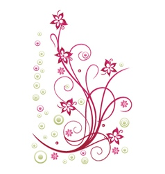 Floral element blossoms vector