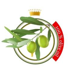 Olive oil stamp vector