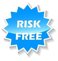 Risk free blue icon vector