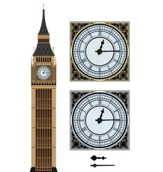 Landmark big ben and the clock vector