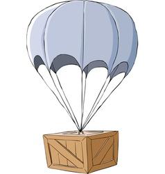Box with a parachute vector