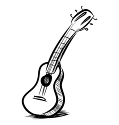 Acoustic guitar fast sketch vector
