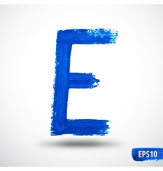 Alphabet letter e watercolor alphabet vector