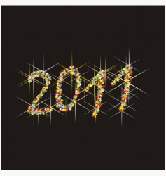 2011 new year fireworks vector