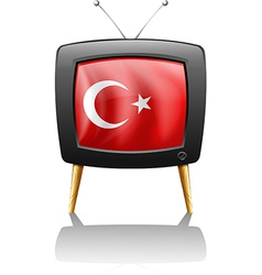 A television wit the flag of turkey vector
