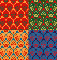 Ramadan seamless set pattern islamic decorative vector