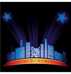 Night cityscape vector
