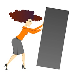 Woman with block vector