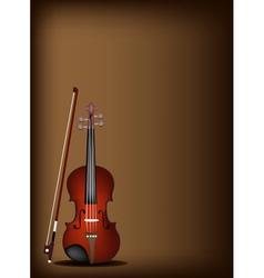 A beautiful violin on dark brown background vector