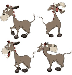 A set of burros cartoon vector
