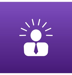 Icon suggestion idea concept lightbulb people vector