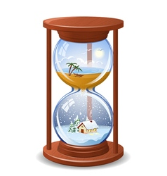 Seasonal sandglass vector