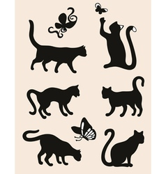 Six cat vector